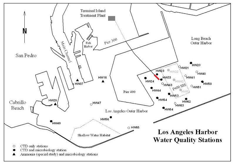 Long Beach Harbor Water Quality Stations